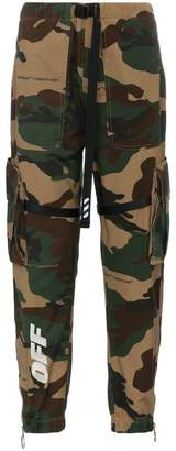 Off-White parachute camouflage trousers