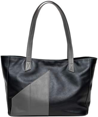 Holly & Tanager - Commuter Tote Bag In Black & Grey