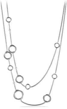 David Yurman Infinity Station Chain Necklace With Pearls