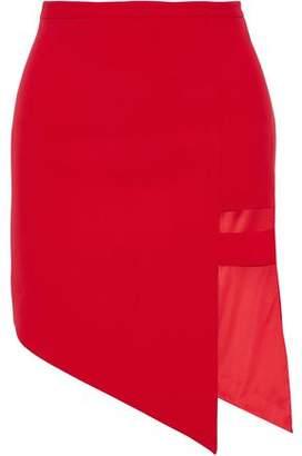 Mason Asymmetric Cutout Woven Mini Skirt