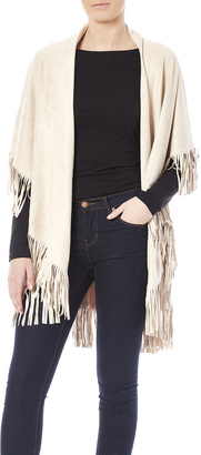 Look by M Faux Suede Fringe Vest $64 thestylecure.com