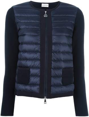 Moncler knitted panel jacket