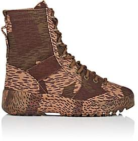 Yeezy Men's Canvas Military Boots-Brown