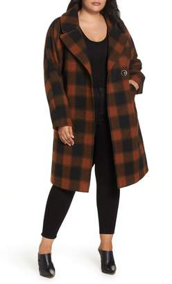 Rachel Roy Oversize Boiled Wool Coat