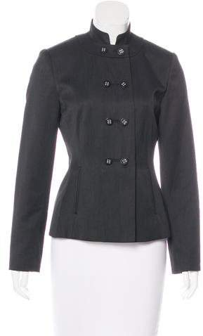 Calvin Klein Stand Collar Double-Breasted Jacket