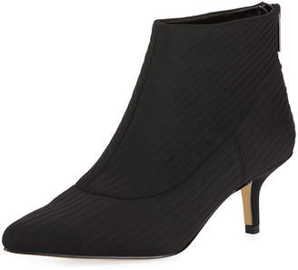 Halston Tiana Pleated Fabric Booties
