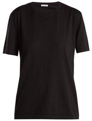 Tomas Maier Short Sleeve Cashmere Sweater - Womens - Black