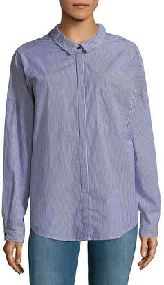 Sanctuary Tie Back Boyfriend Button-Down Shirt