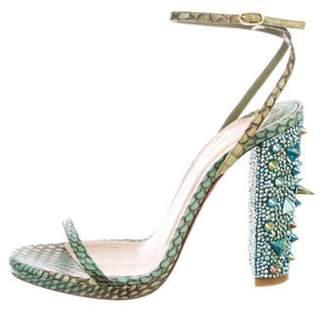 17fa1e52f12 Christian Louboutin Block Heel Sandals For Women - ShopStyle Canada