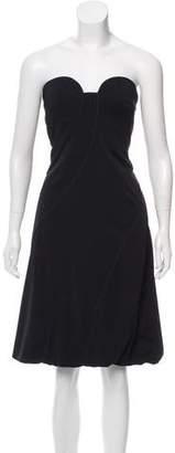 Giorgio Armani Strapless Knee-Length Dress w/ Tags