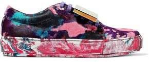 Acne Studios Appliquéd Painted Calf Hair Sneakers