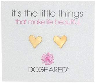 """Dogeared It's the Little Things"""" -Plated Silver Heart Post Earrings"""
