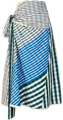 Marni wraparound gingham skirt