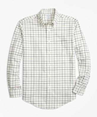 Brooks Brothers Non-Iron Regent Fit Tattersall Flannel Sport Shirt