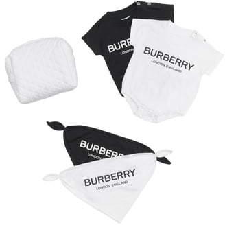 Burberry 4-Piece Bodysuits & Bibs Set