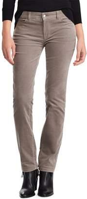 Chaps Petite Stretch Corduroy Midrise Straight-Leg Pants