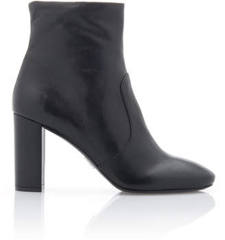 Prada Leather Ankle Boots Size: 35