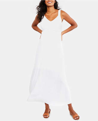 Motherhood Maternity Twist-Front Maxi Dress