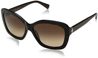 Cole Haan Women's Ch7006 Plastic Butterfly Cateye Sunglasses
