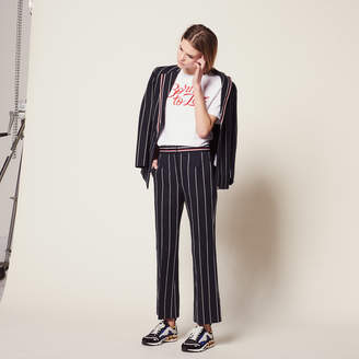 Sandro Trousers with contrasting stripes