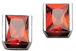 Steel by Design Stainless Steel Red Cubic Zirconia Stud Earring