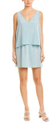 Lavender Brown Popover Silk Mini Dress