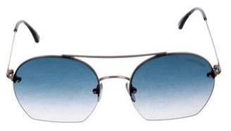 Tom Ford Semi-Round Gradient Sunglasses
