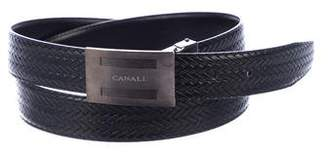 Canali Woven Reversible Leather Belt
