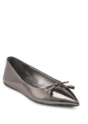 Prada Metallic Leather Skimmer Flats $495 thestylecure.com