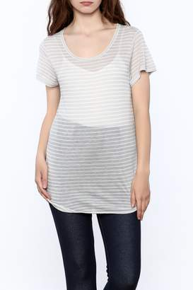Gentle Fawn Sheer Grey Tunic Top