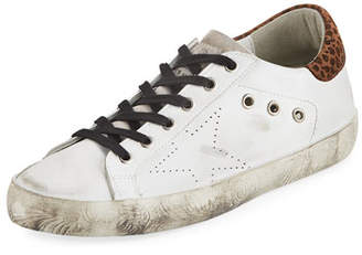 Golden Goose Superstar Leopard Distressed Sneakers