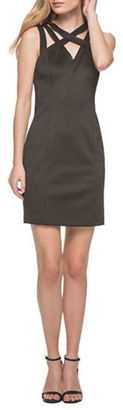Guess Cutout Cross-Strapped Shift Dress $98 thestylecure.com