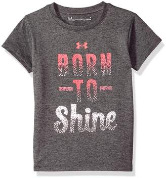 Under Armour Toddler Girl's Born To Shine Short Sleeve T-shirt Shirt