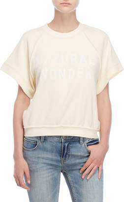 Free People Natural Wonder Short Sleeve Sweatshirt