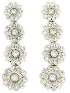 Tiffany & Co. Platinum Diamond Rose Graduated Drop Earrings