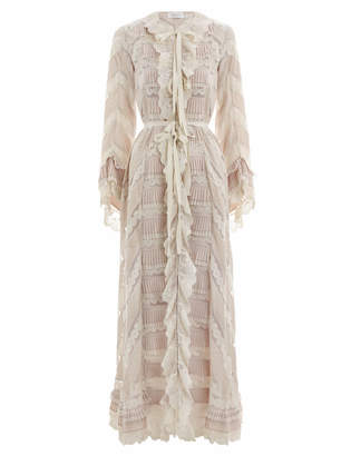 Zimmermann Tempest Pleat Lace Dress