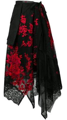 Antonio Marras asymmetric layered skirt