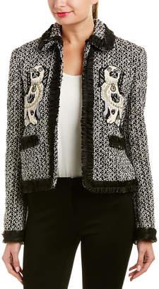 Gucci Silk & Leather-Trim Jacket