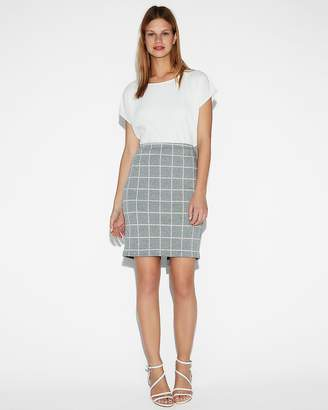Express High Waisted Windowpane Clean Pencil Skirt