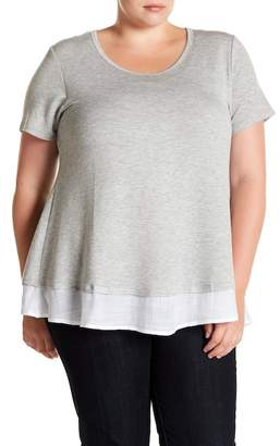 Bobeau Baby French Twofer Tee (Plus Size)