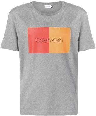 Calvin Klein two colour front logo T-shirt