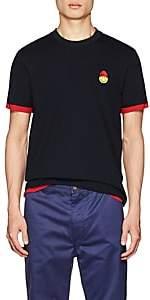 Ami Alexandre Mattiussi Men's Smiley-Patch Cotton Short-Sleeve T-Shirt-Navy