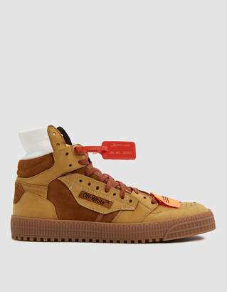 Off-White Off White Off-Court Suede Sneaker in Camel