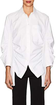 Stella McCartney Women's Zoe Cotton Poplin & Rib-Knit Blouse