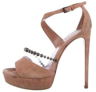 Alaia Suede PVC-Trimmed Sandals