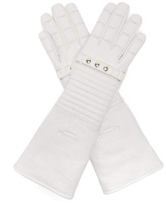 Calvin Klein Padded leather gloves
