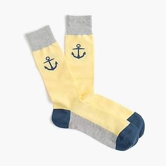 J.Crew Anchor print socks