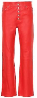 Joseph High-rise leather bootcut pants
