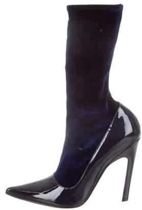 Balenciaga 2018 Broken Ankle Boots navy 2018 Broken Ankle Boots