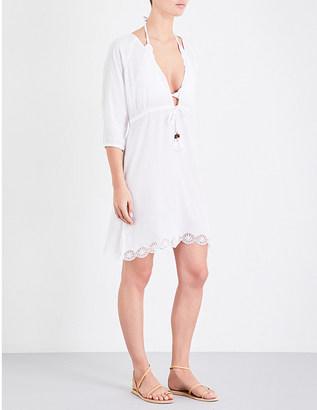 Heidi Klein Ostuni cotton-blend kaftan $225 thestylecure.com